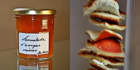marmelade d'oranges amères et zestes