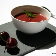 Gaspacho de cerises  l&#039;huile d&#039;olive