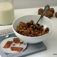 Granola aux noix et  la figue sche