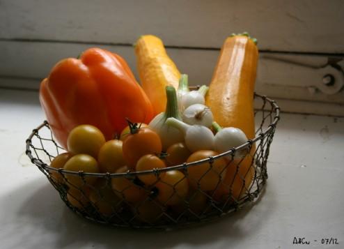 légumes tout jaune