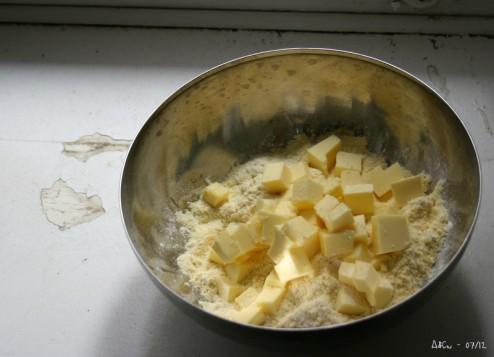 Farine et beurre pour pâte à tarte
