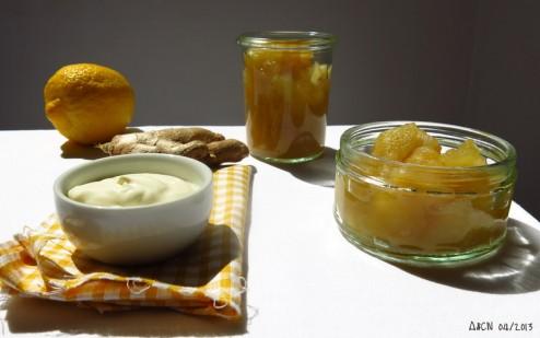 Compote pomme citron gingembre