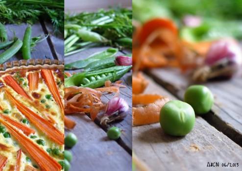 Tarte carottes nouvelles petits pois