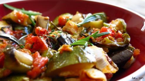 Légumes rôtis en salade