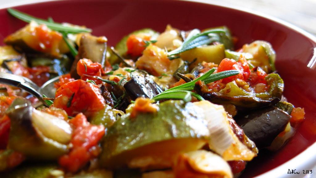 Salade froide de l gumes r tis for Ver mangeur de salade