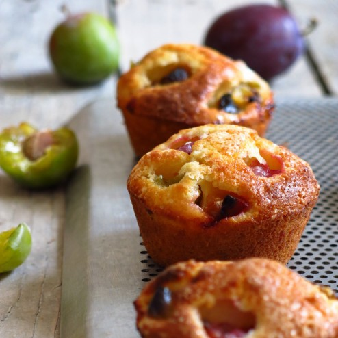 Muffins à la prune