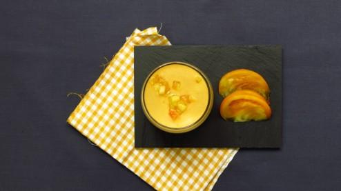 gaspacho jaune de tomates