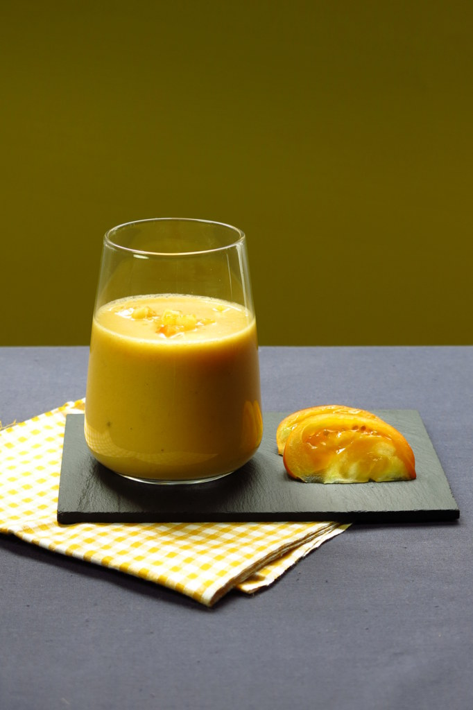 gaspacho tomate ananas jaune