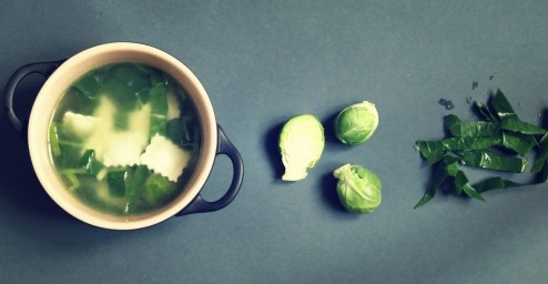 soupe verte de ravioles façon minestrone