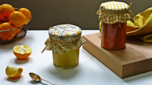 bergamote curd et marmelade