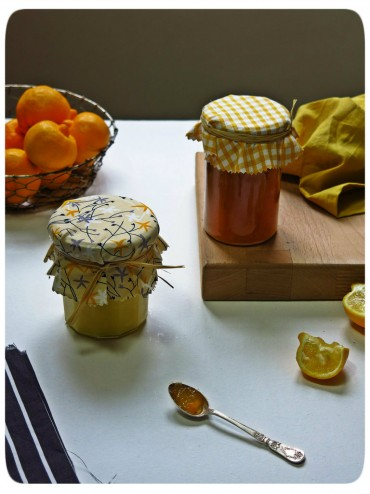 curd et marmelade de bergamotes