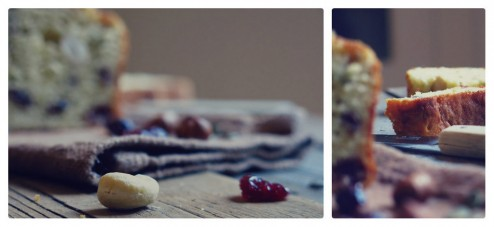 Détails de cake salé aux fruits secs et à la bière