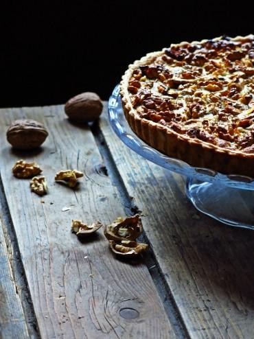 tarte fondante aux noix