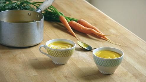 carottes nouvelles en potage