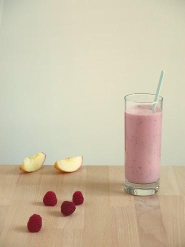 Smoothie yaourt-nectarine-framboise