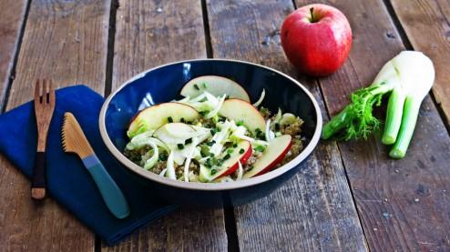 Salade citronnée de quinoa, fenouil et pomme