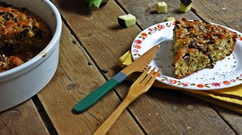 gâteau aubergine-feta