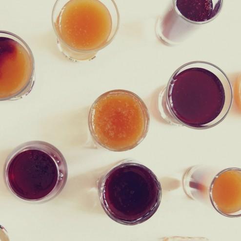 Verrines tapioca jus de fruit
