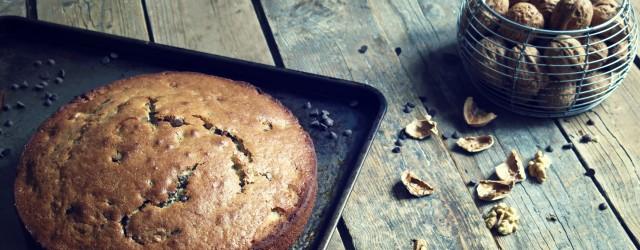 gâteau noix et chocolat