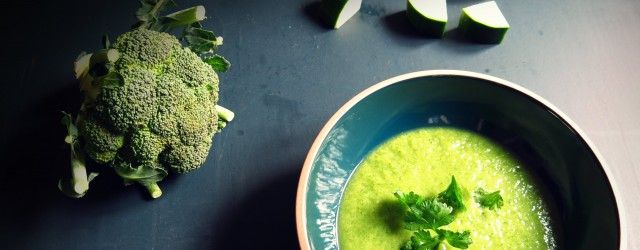 velouté brocoli courgette