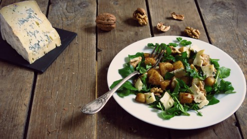 Salade decresson et  panais rôtis