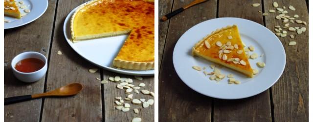 tarte miel fromage frais