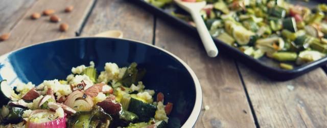 Salade de millet  et légumes rôtis