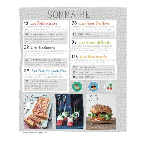 Sommaire Saveurs spécial blogs culinaires