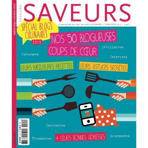 couverture Saveurs spécial blogs culinaires