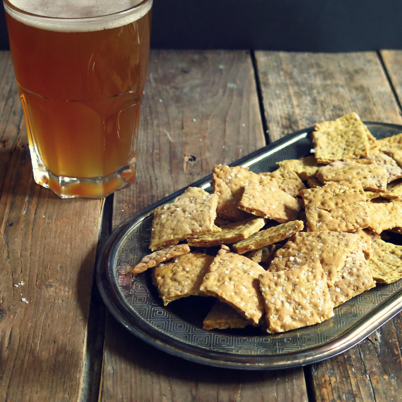 crackers à la bière blonde