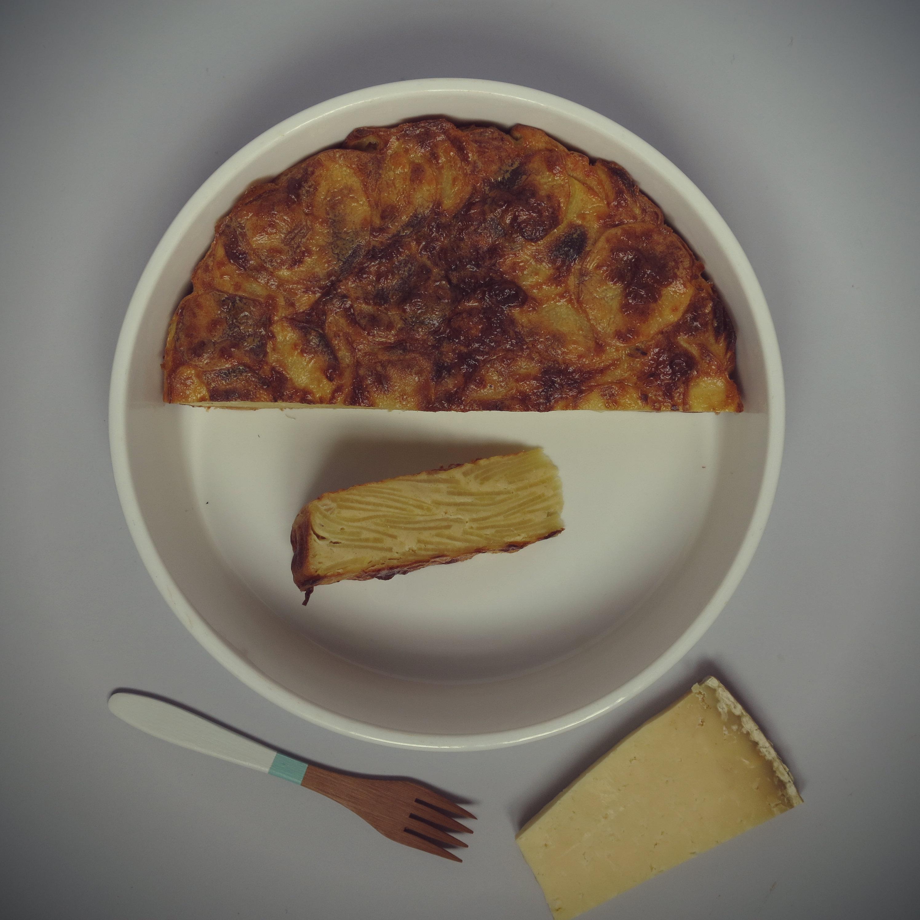 gâteau invisible pomme de terre cantal