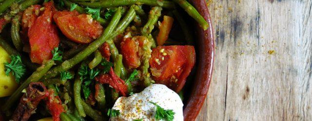 Cocotte de haricots verts et tomates
