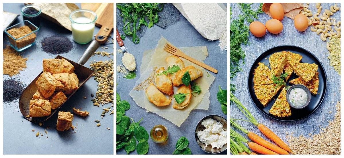 Planche de recettes de Cuisine végétarienne pour tout le monde - Céline Mennetrier