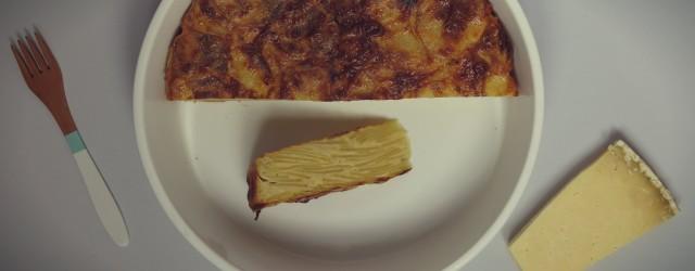 gâteau invisible pomme de terre et cantal