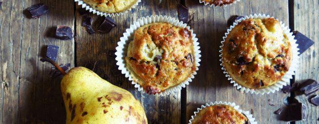Muffinsde poire blette et chocolat