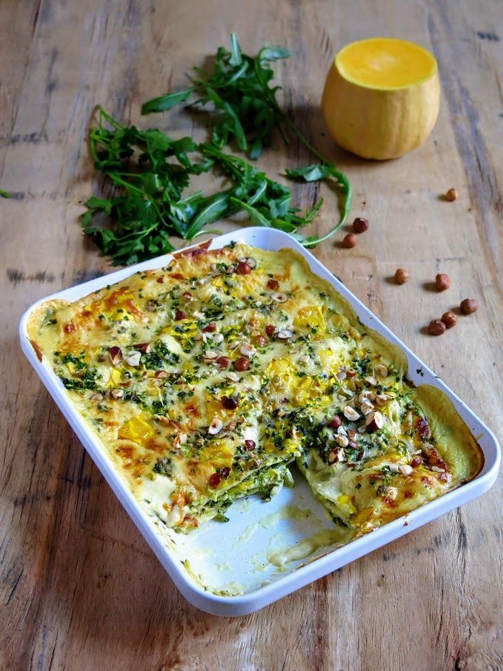 Lasagnes veggie à la courge butternut
