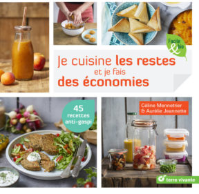 Couv du livre Je cuisine les restes et je fais des économies Céline Mennetrier