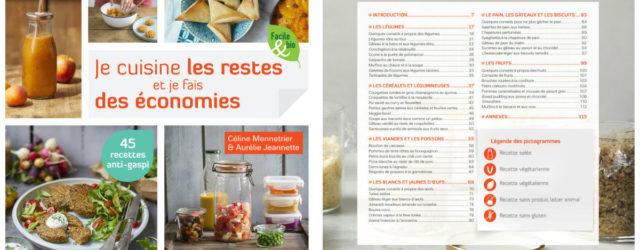 Présentation livre Je cuisine les restes et je fais des économies de Céline Mennetrier