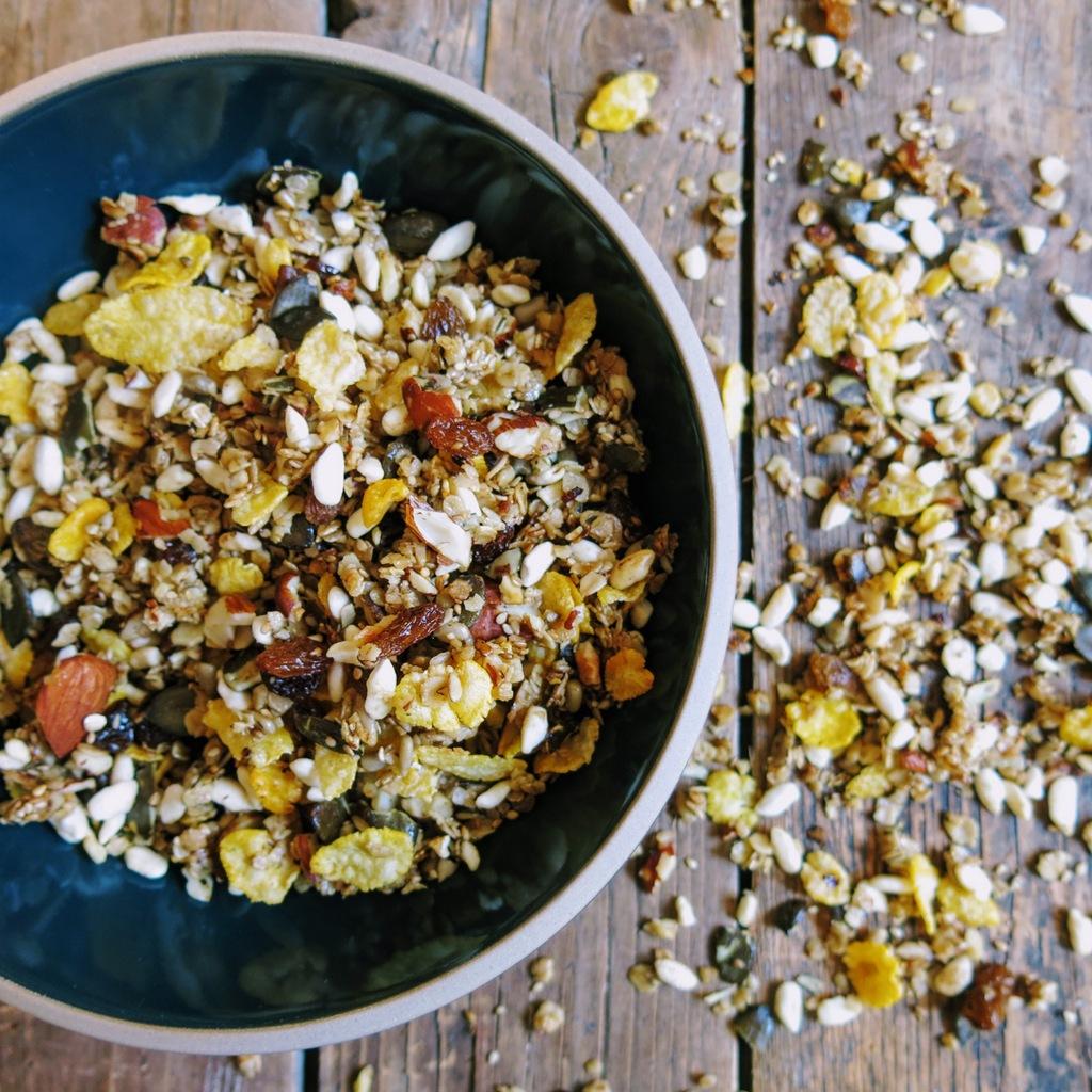 granola à la poêle croustillant