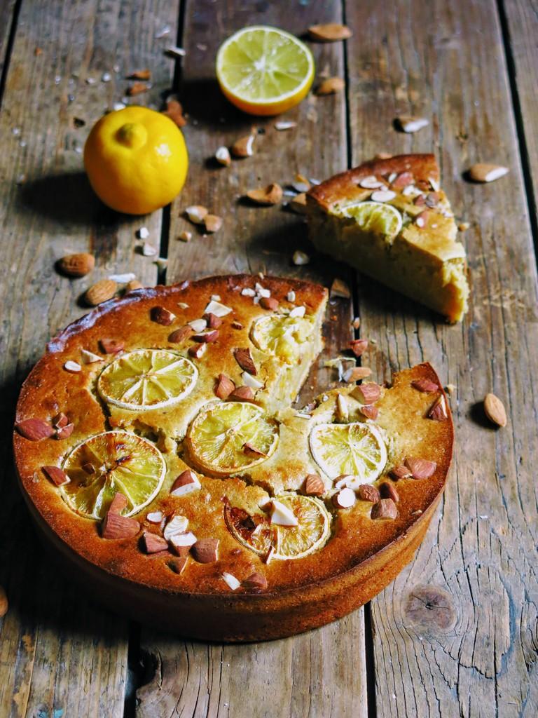 gâteau à la pulpe de bergamote et amande