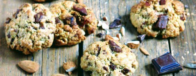 Cookies à la purée d'amande et chocolat