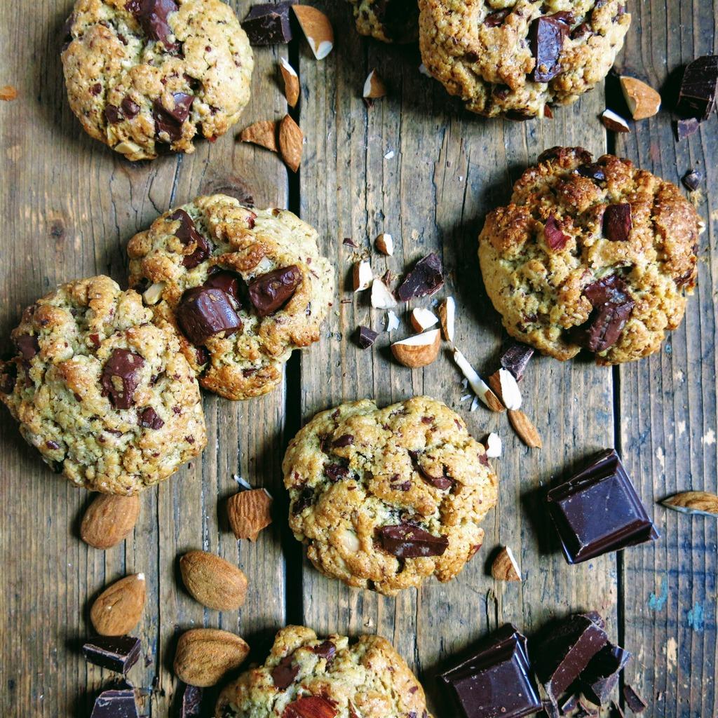 Cookies à la purée d'amandes et chocolat