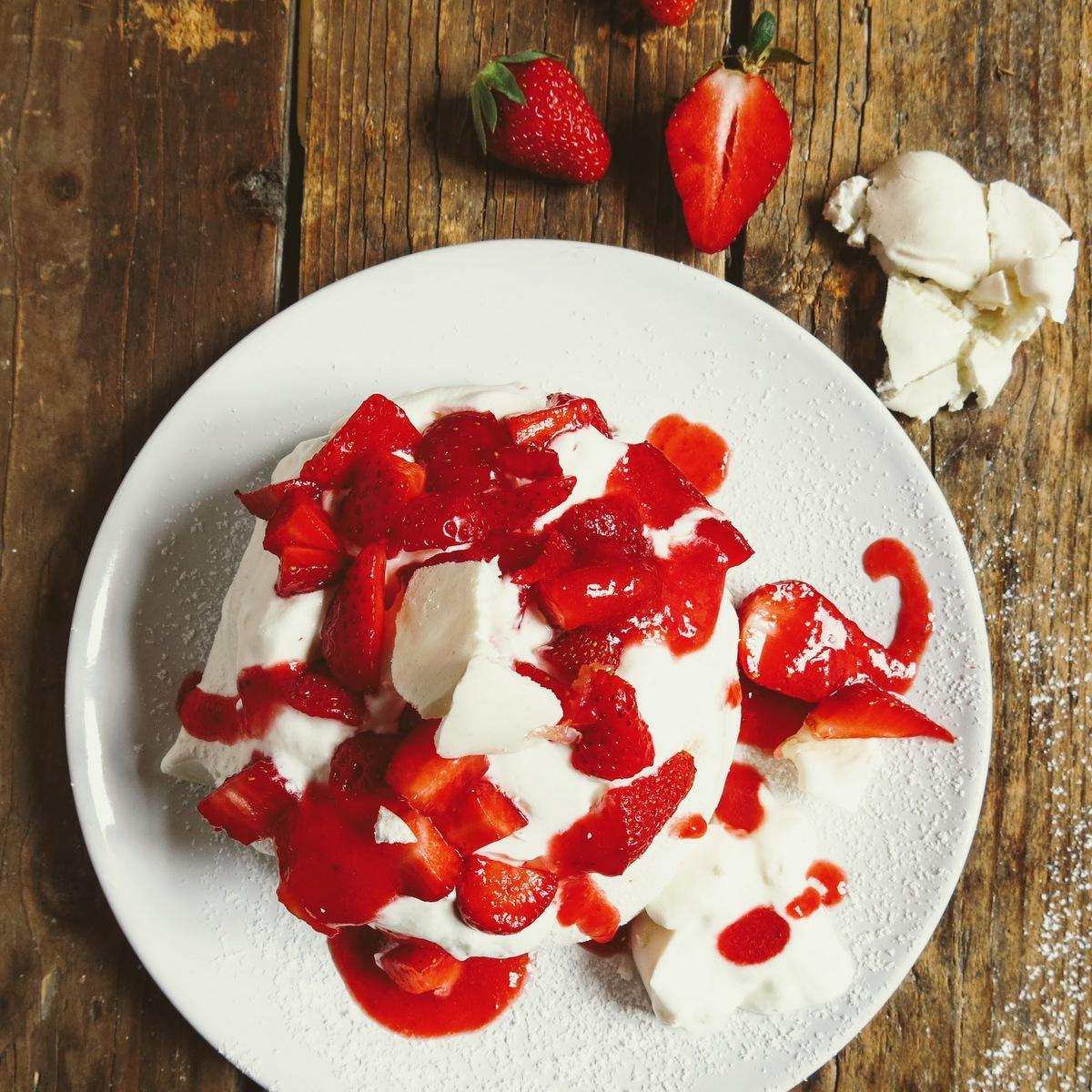 pavlovas aux fraises